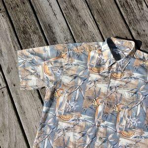 Pierre Cardin 100% Cotton Hawaiian Shirt Size XL